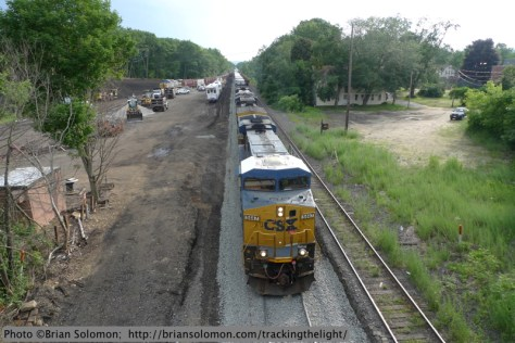 CSX Intermodal train East Brookfield_