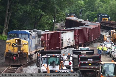 CSX ballast train.