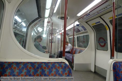 London Underground tube car
