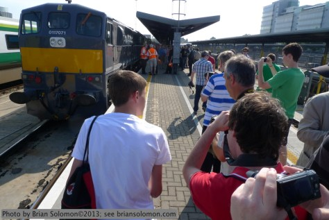 Irish Rail 071 at Heuston Station, Dublin.