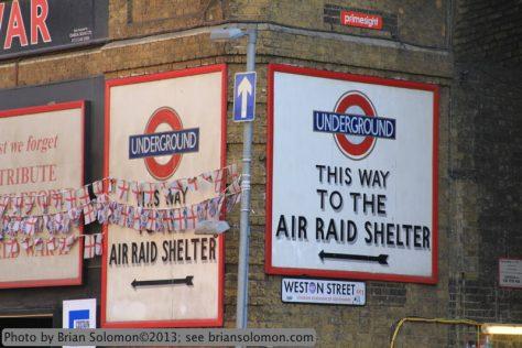 Air raid signs