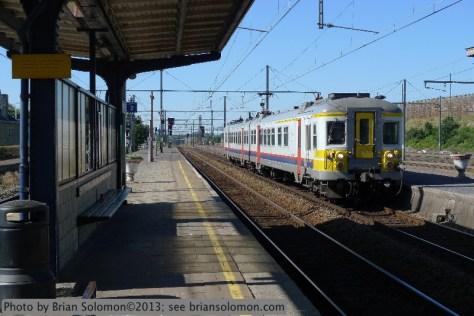 SNCB electric passenger train.