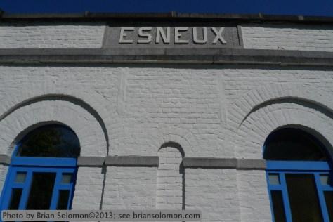 Railway station in Belgium.