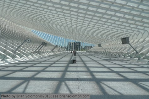 Calatrava designed station at Liege, Belgium.