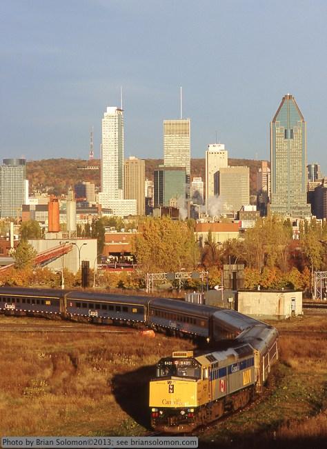 VIA Rail Montreal, Canada.