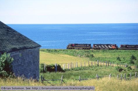 Railway train with water
