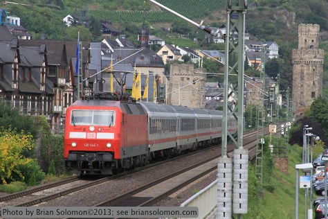 German passenger train.