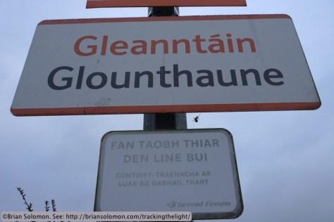 Irish Rail signs at Glounthaune, Cork. Lumix LX3 photo.