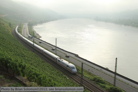 Germany ICE high speed train.