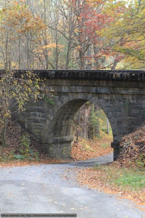 Boston & Maine stone arch bridge on the Connecticut River line near East Northfield, Massachusetts. Canon 7D with 100mm lens.