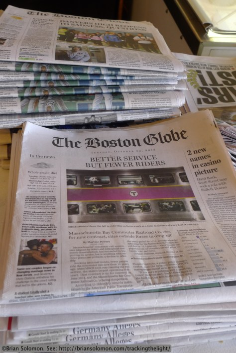 MBTA is news in Boston. Lumix LX3 photo.