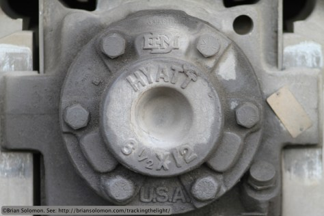 Locomotive wheel bearing.