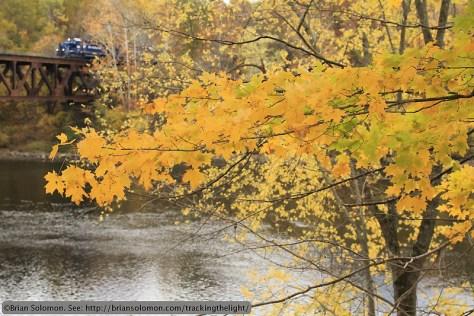 Connecticut River Bridge with foliage.