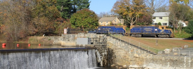 New England Central at Eagleville Dam, Connecticut