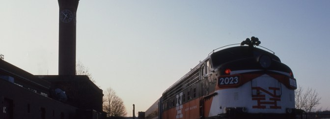 Metro-North FL9 at Waterbury, Connecticut, November 16, 1992.