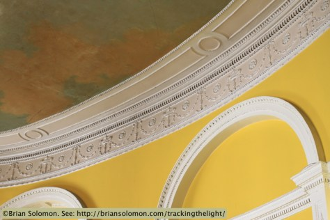 Rates Office ceiling (old Newcomen Bank). Castle Street. Exposed with Canon EOS 7D with 40mm lens.