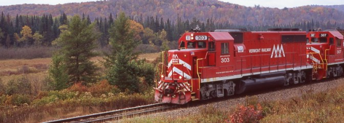 Vermont Rail System, Mt. Holly, October 9, 2004.