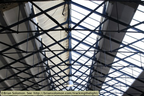 Restored roof at Wholesale Fruit and Vegetable Market on Mary's Lane.