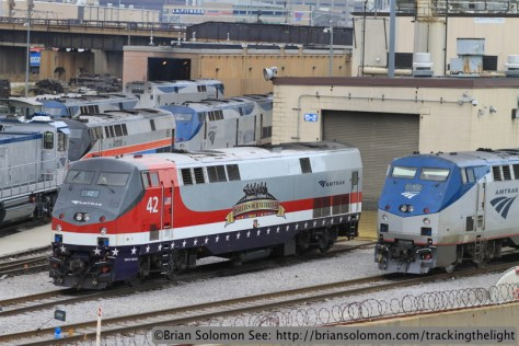 Amtrak 42 in Chicago, November 2013. Canon EOS 7D photo.