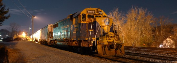 DAILY POST: New England Central at Night