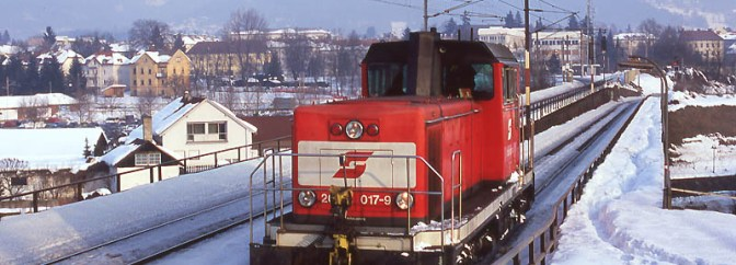 DAILY POST: Snow, Sub-Zero Temperatures, and Red Engines.