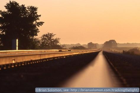 Rails at sunset