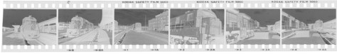 A raw negative strip from my morning at Springfield Station on March 31, 1984. Although stored in a manila envelop for the better part of three decades, the negatives were processed properly and kept flat in a cool dry place, and so remain in very good condition.