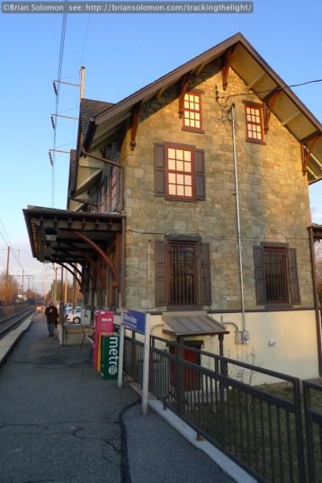 Old PRR station at Clifton-Aldan, Pennsylvania. Lumix LX3 photo.