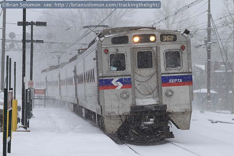 SEPTA in snow
