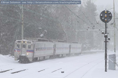 SEPTA in the snow