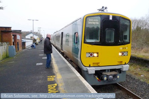 Foxford, County Mayo. This 2800 will terminate at Ballina, several miles to the north. Lumix LX3.