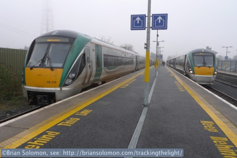It was as foggy in Athlone as it had been in Dublin. I changed to the ICR on the left. This was destined to Westport.