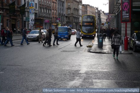 Dame Street, Dublin on April 26, 2014.