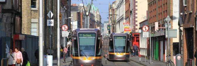 Daily Post—LUAS on Abbey Street.