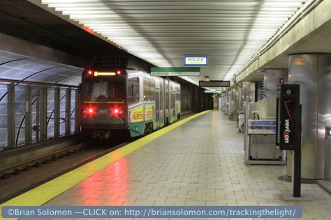 Boston's Green Line Subway at North Station on June 2, 2012. Exposed with a Canon 7D with 28-135mm lens.