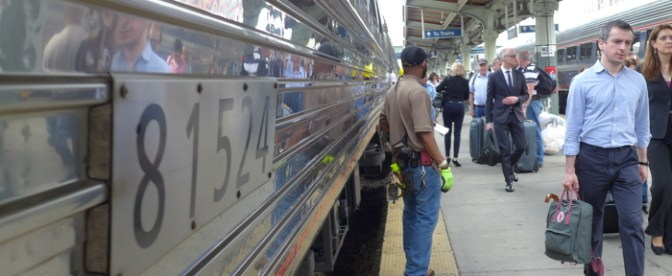 Carolinian Engine Change at Washington Union Station, May 28, 2014.
