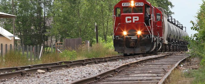 TRACKING THE LIGHT: Canadian Pacific Local on the Milwaukee Road.