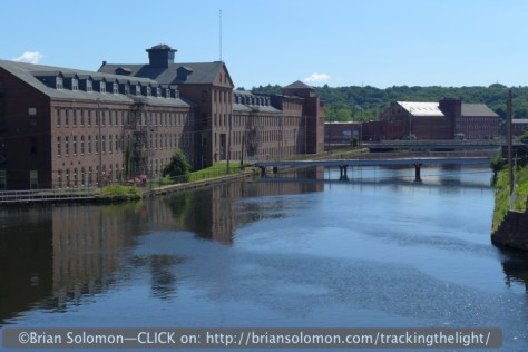 Old mill buildings on the canal in Holyoke. All quiet on a Sunday morning. Lumix LX-7 photo.