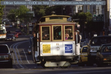 Cable Car on Columbus, exposed on Kodachrome in 1994.