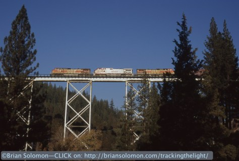 Western Pacific was built by virtue of improved bridge design. Tower supported steel viaducts such as this one allowed for relatively inexpensive construction of very large and tall spans. A century later the bridge remains in service.