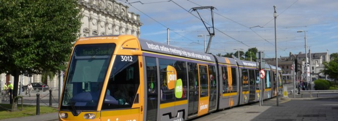 LUAS Ad Tram At Heuston Station