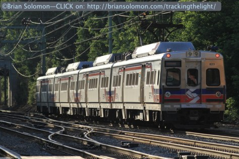 Close-up of SEPTA Silverliner Vs at Bryn Mawr on June 30, 2014. Canon EOS 7D photo with 200mm lens.