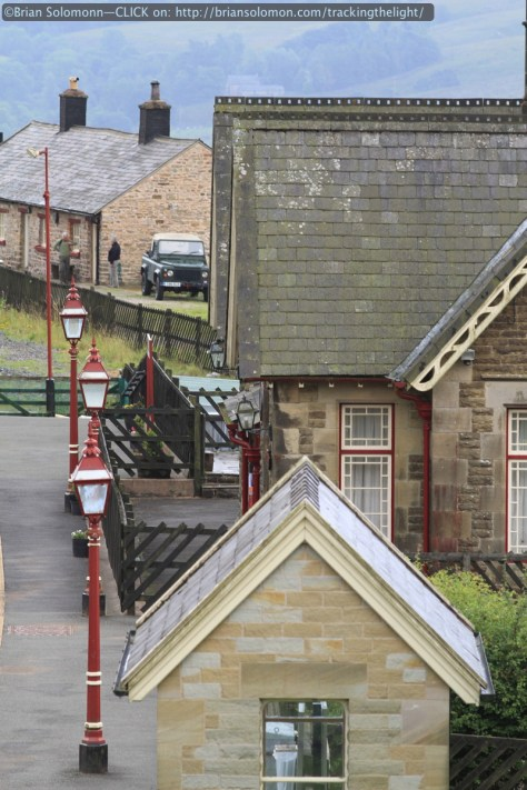 Old station buildings at Dent on the Settle & Carlisle in August 2014. Canon EOS 7D with 200mm lens.