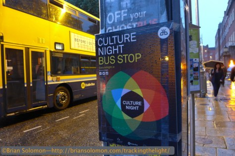 Culture Night bus stop at Parnell Square.