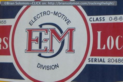 The event was all about EMD locomotives, yet not everything on display was streamlined. LX7 photo.