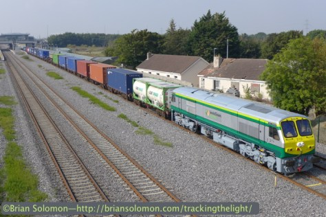 Today's (September 11, 2014) Ballina to Dublin IWT near Clodalkin-Fonthill Station. Lumix LX7 photo.