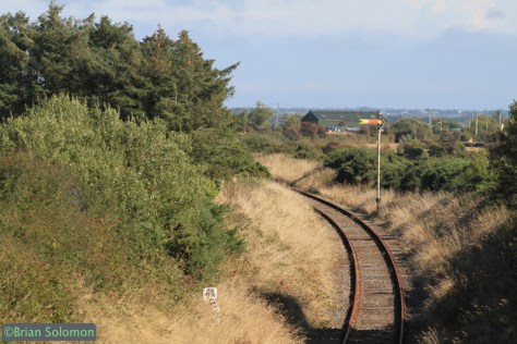Looking east toward the Robinstown Level Crossing. September 29, 2014,  exposed with my Canon EOS 7D with 200mm lens.