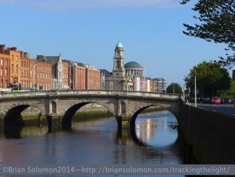 Mellows Bridge over the River Liffey, Dublin.