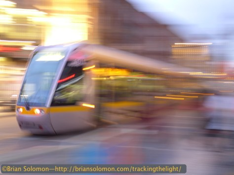 LUAS on Abbey Street, Dublin.