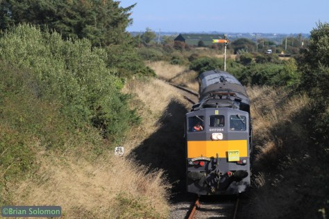 The Emerald Isle Express works west of Robinstown, County Wexford on September 29, 2014.  Canon EOS 7D with 200mm lens.
